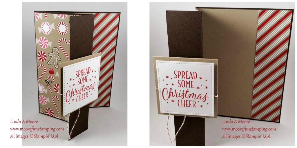 card stock early espresso 85 x 55 score at 125 and 425 crumb cake 3 34 x 5 38 inside panel scrap for layers and stamping designer series paper - Folded Christmas Cards